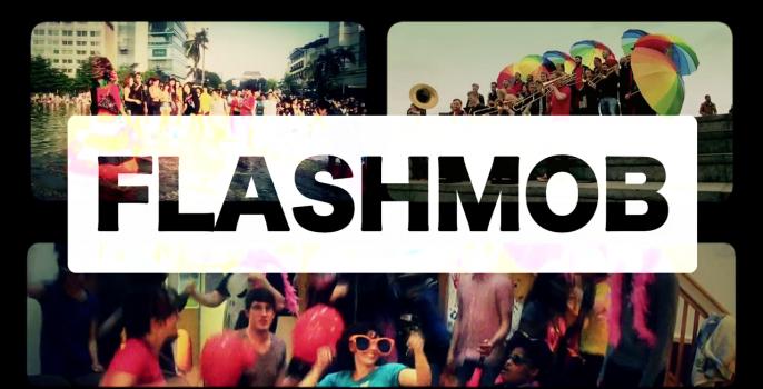 Глобальное видео радужных флешмобов по итогам 2013 года